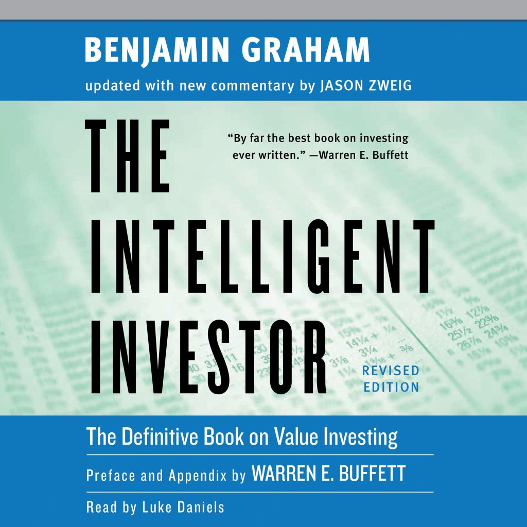 The Intelligent Investor book cover, Price Is What You Pay, Value is What You Get